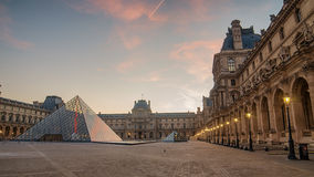 Paris (France). Louvre and Pyramid Royalty Free Stock Image