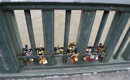 Love Locks on a Bridge in Paris royalty free stock photos