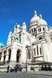 Paris, France - 27 mai 2015 : Basilique de Sacre Coeur à Paris au jour avec le ciel lumineux bleu Images libres de droits