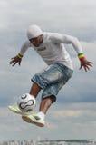 Paris, France - 29 mai 2014 - freestyler de footballer, Iya Traore Images stock