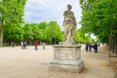 Paris, France - 2 mai 2017 : Statue de Julius Caesar dans le jardin Photo libre de droits