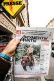 Russian press featuring Vladimir Putin Stock Image