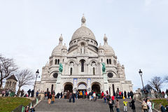 Steps to Basilica Sacre Coeur in Paris Stock Photography