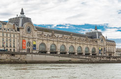 Paris, France, March 31 2017: D`Orsay Museum on left bank of Seine. D`Orsay housed in the former Gare D`Orsay. D`Orsay Stock Photography