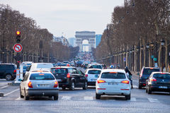 Avenues des Champs Elysees in Paris Stock Photo