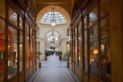 Galerie Vivienne - passage in Paris Stock Photography