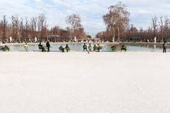 Pond (Grand Basin Octagonal) in Tuileries Garden, Paris Royalty Free Stock Images