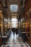 The Grand Cerf passage is one of the largest covered arcades in Paris. PARIS, FRANCE - MARCH 24, 2018: Grand Cerf covered arcade was created in 1825, not far Stock Image