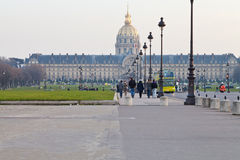 View of hotel des invalides in Paris Royalty Free Stock Photo