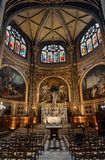 The Chapel of the Virgin in Saint-Eustache church in Paris France. Paris, France - 24 March 2019: interior of the The Chapel of the Virgin in church of Saint stock images