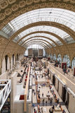 Paris, France, March 28 2017: The interior of musee d`orsay. It is housed in the former Gare d`Orsay, a Beaux-Arts Royalty Free Stock Photography
