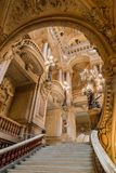 Paris, France, March 31 2017: Interior view of the Opera National de Paris Garnier, France. It was built from 1861 to Royalty Free Stock Image