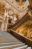 Paris, France, March 31 2017: Interior view of the Opera National de Paris Garnier, France. It was built from 1861 to Stock Image