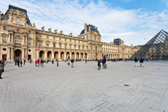 Louvre Palace and Pyramid, Paris Royalty Free Stock Photography