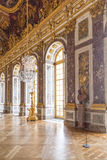Paris, France, March 28 2017: Mirror`s hall of Versailles Chateau. France. Paris, France, March 28 2017: Mirror`s hall of Versailles Chateau France Royalty Free Stock Image