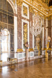 Paris, France, March 28 2017: Mirror`s hall of Versailles Chateau. France. Paris, France, March 28 2017: Mirror`s hall of Versailles Chateau France Stock Photos