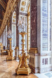 Paris, France, March 28 2017: Mirror`s hall of Versailles Chateau. France. Paris, France, March 28 2017: Mirror`s hall of Versailles Chateau France Royalty Free Stock Images