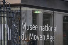 National Museum of the Middle Ages. Paris, France - March 16, 2019: Musée national du Moyen Âge, Cluny Museum - National Museum of the Middle Ages stock images