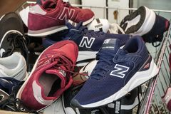 New Balance shoes editorial stock photo