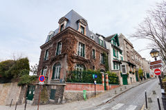 Houses on Montmartre, Paris Stock Photography