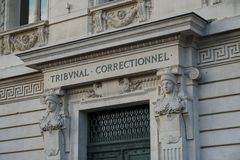 Tribunal correctionnel in Paris stock photography