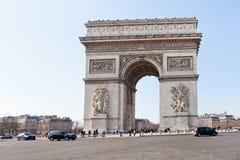 Triumphal Arch de l' etoile in Paris Royalty Free Stock Photos