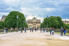 Paris, France - May 2, 2017: Arc de Triomphe of the Carousel wit Royalty Free Stock Photo