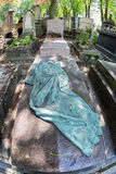 PARIS, FRANCE - MAY 2, 2016: Auclert mother of women vote grave in Pere-Lachaise cemetery homeopaty founder Royalty Free Stock Images