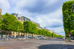 Paris, France - May 1, 2017: Long Exposure view of Champs-Élys Royalty Free Stock Images