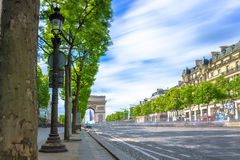 Paris, France - May 1, 2017: Long Exposure view of Champs-Élys Stock Images
