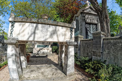 PARIS, FRANCE - MAY 2, 2016: Moliere grave in Pere-Lachaise cemetery homeopaty founder Royalty Free Stock Photo