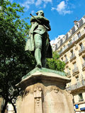 Paris, France - May 3, 2007 - Monument Beaumarchais in the Rue S Stock Photography