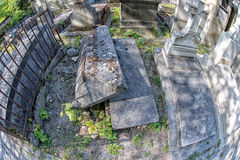PARIS, FRANCE - MAY 2, 2016: old graves in Pere-Lachaise cemetery Stock Photography