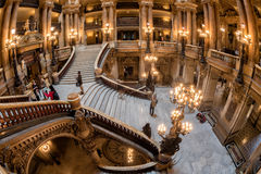 PARIS, FRANCE - MAY 3, 2016: people taking pictures at opera paris Royalty Free Stock Photography