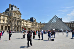 Paris, France - May 13, 2015: Tourist visit Louvre museum in Pa Stock Image