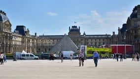 Paris, France - May 13, 2015: Tourist visit Louvre museum in Paris Stock Photo
