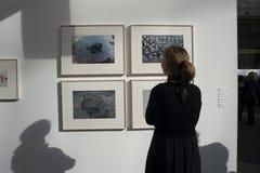 Paris, France, mostra de artes de FIAC, fotografia fotografia de stock