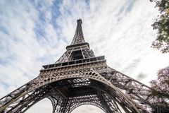 Paris, France - November, 2017. Eiffel tower on sunny day. Paris Best tourist Destinations in Europe. Paris, France - November, 2017 Paris Best Destinations in Royalty Free Stock Photo