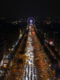 Paris, France-November 26,2016:Illumination on Champs-Elysees avenue. For Christmas started royalty free stock photo