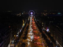 Paris, France-November 26,2016:Illumination on Champs-Elysees avenue. For Christmas started royalty free stock image