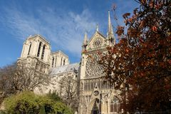 Notre Dame de Paris Cathedral, most beautiful Cathedral in Parisl. France. stock photography