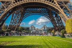 PARIS, FRANCE - NOVEMBER 9, 2014 People, mainly tourists queuing Stock Photography