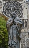 Statue of Saint Pope Jean-Paul II royalty free stock images