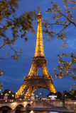 PARIS, FRANCE - OCTOBER 1: Tour Eiffel at Night on October 1, 20 Royalty Free Stock Image