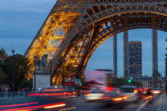 PARIS, FRANCE - OCTOBER 1: Tour Eiffel at Night on October 1, 20 Stock Photo