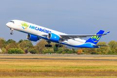 Airbus A350 from Air Caraibes stock images