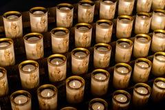 PARIS, FRANCE - October 28, 2015: Candles Notre-Dame de Paris. Notre-Dame de Paris - main cathedral in Paris since 1345 Royalty Free Stock Images