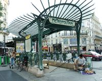 Chatelet is one of the busiest stations of the Paris subway system royalty free stock photo