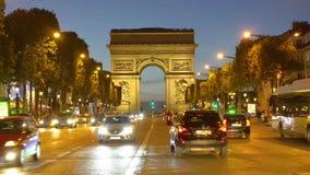 Arc de triomphe, Paris, France stock video