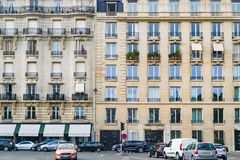 PARIS, FRANCE - 02 OCTOBER 2018: full frame image of building in Paris, France royalty free stock image